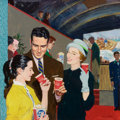 Mainstream Illustration, WILLIAM A. SMITH (American, 1918-1989). During theIntermission...the Pause that Refreshes, Coca-Cola adillustration, c...