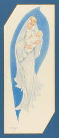 Pin-up and Glamour Art, ALBERTO VARGAS (American, 1896-1982). Madonna and Child,American Greeting Cards Company, Christmas card illustration,c...