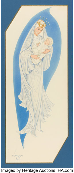 Alberto vargas american 1896 1982 madonna and child american pin up and glamour art alberto vargas american 1896 1982 m4hsunfo