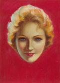 Pin-up and Glamour Art, CHARLES GATES SHELDON (American, 1889-1960). Marlene Dietrich,Screenland Magazine cover, c. 1930s. Pastel on board. 14....