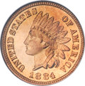 Proof Indian Cents, 1884 1C PR67 Red NGC....