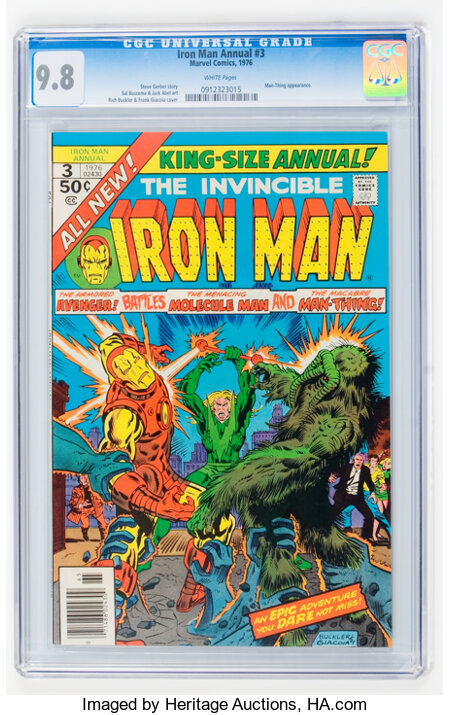 Iron Man Annual #3 (Marvel, 1976) CGC NM/MT 9.8 White pages....