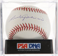 Autographs:Baseballs, Luis Aparicio Single Signed Baseball PSA NM-MT+ 8.5....
