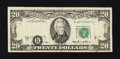 Error Notes:Shifted Third Printing, Fr. 2075-B $20 1985 Federal Reserve Note. Fine.. ...