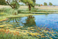 Paintings, TONY EUBANKS (American, b. 1939). Gail's Pond. Oil on canvas. 24 x 36 inches (61.0 x 91.4 cm). Signed and monogrammed lo...