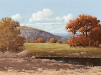 JERRY RUTHVEN (American, b. 1947) Autumn Brilliance Oil on canvas 18 x 24 inches (45.7 x 61.0 cm)