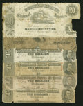 Confederate Notes:Group Lots, Mixed Lot of Well-Circulated Confederate Notes. Six Examples.. ...(Total: 6 notes)