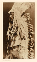 Western:20th Century, EDWARD SHERIFF CURTIS (American, 1868-1952). Old Person - Piegan, Plate 204, 1911. from The North American Indian. P...