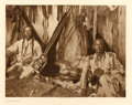 Photographs, EDWARD SHERIFF CURTIS (American, 1868-1952). In a Piegan Lodge, Plate 188, 1910. from The North American Indian. Por...