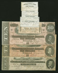 Confederate Notes:Group Lots, Confederate Group Lot. Eight Examples.. ... (Total: 8 notes)