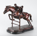 Fine Art - Sculpture, American, DANIEL WALLTON (American, 20th Century). Jumping Horse.Bronze. 17 x 22-1/2 x 10 inches (43.2 x 57.2 x 25.4 cm). Signed ...