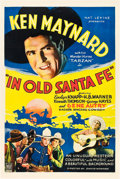 "Movie Posters:Western, In Old Santa Fe (Mascot, 1934). One Sheet (27"" X 41"").. ..."