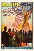 "Movie Posters:Drama, The Land of Liberty (Mutual, 1914). One Sheet (27"" X 41"").. ..."