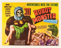 """Movie Posters:Science Fiction, Robot Monster (Astor Pictures, 1953). Half Sheet (22"""" X 28""""). 3-DStyle.. ..."""
