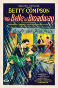 """Movie Posters:Drama, The Belle of Broadway (Columbia, 1926). One Sheet (27"""" X 41"""") StyleA.. ..."""