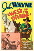 "Movie Posters:Western, West of the Divide (Monogram, 1934). One Sheet (27"" X 41"").. ..."