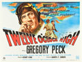 "Movie Posters:War, Twelve O'clock High (20th Century Fox, 1949). British Quad (30"" X 40"").. ..."
