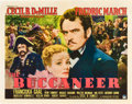 "Movie Posters:Adventure, The Buccaneer (Paramount, 1938). Half Sheet (22"" X 28"") Style A....."