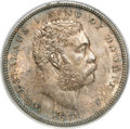 Coins of Hawaii: , 1883 50C Hawaii Half Dollar MS64 PCGS. PCGS Population (55/12). NGCCensus: (29/7). Mintage: 700,000. (#10991)...