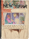 Original Comic Art:Miscellaneous, The New Yorker Cover Preliminary Sketch Original Art(undated)....