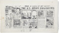 Original Comic Art:Miscellaneous, U.S. Army Recruitment Advertisement Preliminary Sketch OriginalArt, Group of 2 (Harvey, 1951).... (Total: 2 Items)