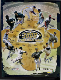 3000 Strikeout Club Multi-Signed Poster