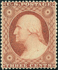 Stamps, 3c Dull Red, Type III (26),... (Total: 1 Slab)