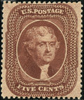 Stamps, 5c Brown, Type II (30A),... (Total: 1 Slab)