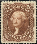 Stamps, 5c Brown Re-Issue (105),... (Total: 1 Slab)