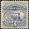 Stamps, 3c Blue Re-Issue (125),... (Total: 1 Slab)