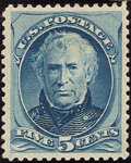 Stamps, 5c Blue (185),... (Total: 1 Slab)