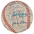 Autographs:Baseballs, Baseball Hall of Famers and Legends Multi-Signed Ball....