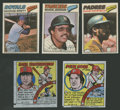 Baseball Cards:Lots, 1977-79 Topps Cloth Stickers and Comics Collection (73). ...