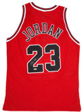 Basketball Collectibles:Others, Michael Jordan UDA Signed Jersey. ...