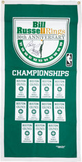 Basketball Collectibles:Others, Bill Russell Signed Celtics Banner....