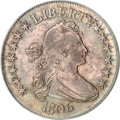 Early Half Dollars, 1806 50C Pointed 6, Stem MS63 PCGS....