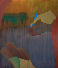 DOROTHY HOOD (American, 1919-2000) Abstract Composition Oil on canvas 70 x 60 inches (177.8 x 152
