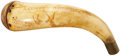 Military & Patriotic:Revolutionary War, Scrimshaw Carved American Powder Horn with Intriguing ID, Dated1773....