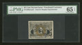 Fractional Currency:Second Issue, Milton 2E25F.6 25c Second Issue Experimental PMG Gem Uncirculated 65 EPQ. ...