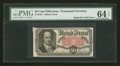 Fractional Currency:Fifth Issue, Butterfly Fold Error Fr. 1381 50c Fifth Issue PMG ChoiceUncirculated 64 EPQ....