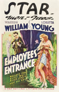 "Movie Posters:Drama, Employees' Entrance (Warner Brothers, 1933). Window Card (14"" X 22"").. ..."