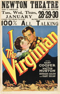 "Movie Posters:Western, The Virginian (Paramount, 1929). Window Card (14"" X 22"").. ..."