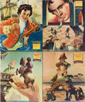 "Movie Posters:Animated, Gulliver's Travels (Paramount, 1939). Jumbo Lobby Card Set of 8(14"" X 17"").. ... (Total: 8 Items)"