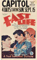 "Movie Posters:Drama, Fast Life (First National, 1929). Window Card (14"" X 22"").. ..."