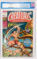 Bronze Age (1970-1979):Horror, Creatures on the Loose #10 (Marvel, 1971) CGC VF+ 8.5 Off-whitepages....