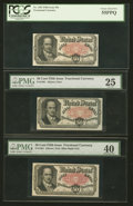 Fractional Currency:Fifth Issue, Fr. 1381 50¢ Fifth Issue PCGS Choice About New 55PPQ.. Fr. 1381 50¢Fifth Issue PMG Extremely Fine 40.. Fr. 1381 50¢ Fifth Iss...(Total: 3 notes)