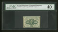 Fractional Currency:First Issue, Fr. 1242 10¢ First Issue PMG Extremely Fine 40....