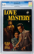 Golden Age (1938-1955):Romance, Love Mystery #1 (Fawcett, 1950) CGC FN- 5.5 Light tan to off-white pages....