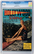 Golden Age (1938-1955):Romance, Hollywood Diary #2 (Quality, 1950) CGC VG 4.0 Off-white pages....