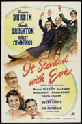 "Movie Posters:Comedy, It Started With Eve (Universal, 1941). One Sheet (27"" X 41""). Comedy.. ..."